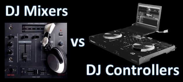 difference between a dj controller and mixer