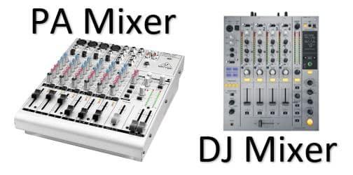 pa mixer vs dj mixer