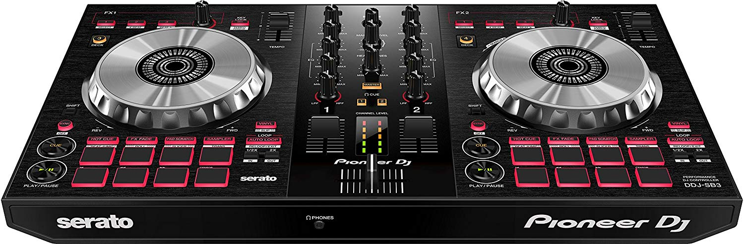 View of the Pioneer DDJ-SB3 Controller